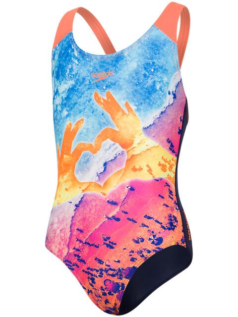 speedo Sunpebble Placement Digital Splashback Swimsuit Children colourful